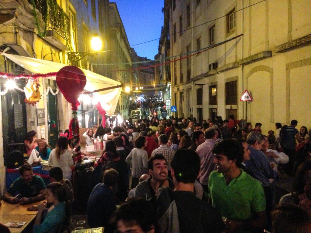 Lisbon Sardine Festival street party