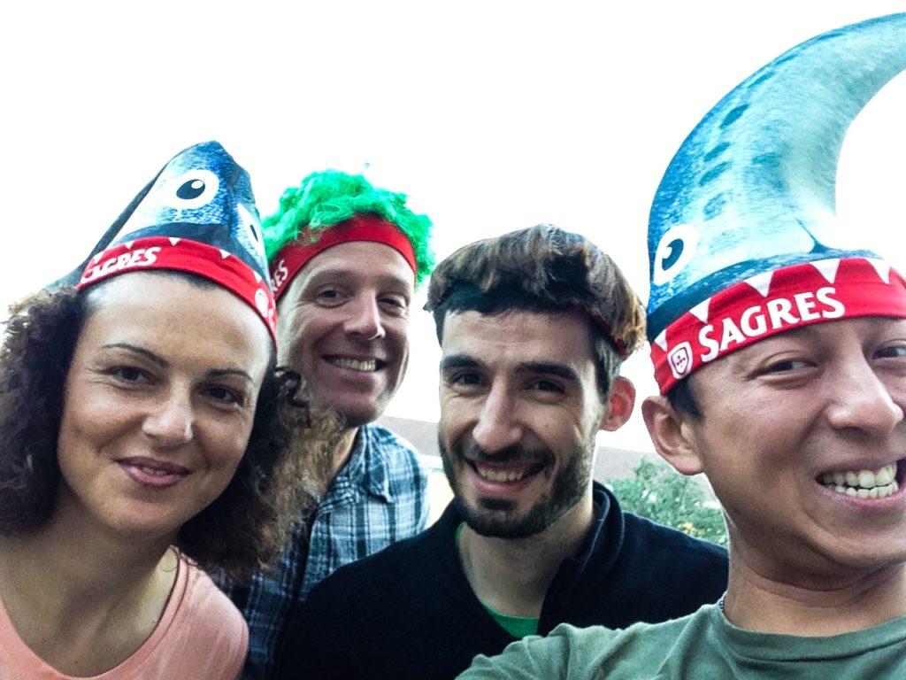 Lisbon Sardine Festival: Michael, Halef, and friends