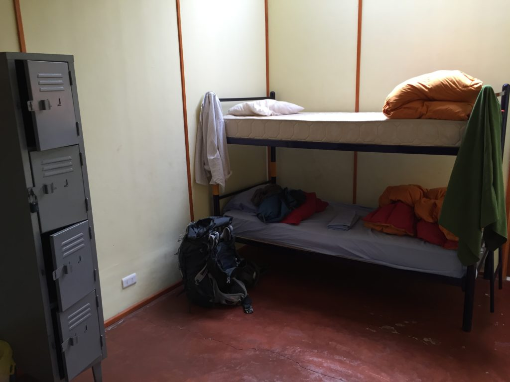 My hostel bed on easter island