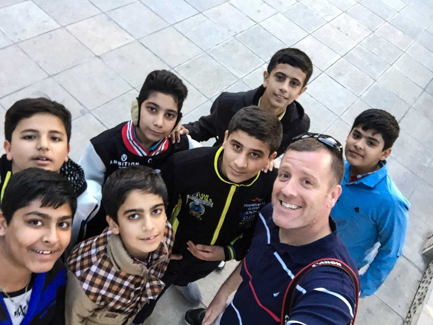 Guided Iran tour - A group of children found me in Shiraz