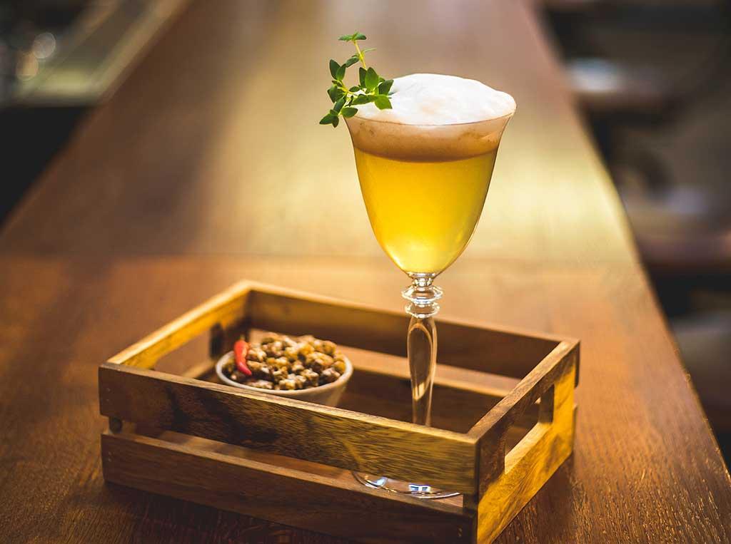 Drink on a bar
