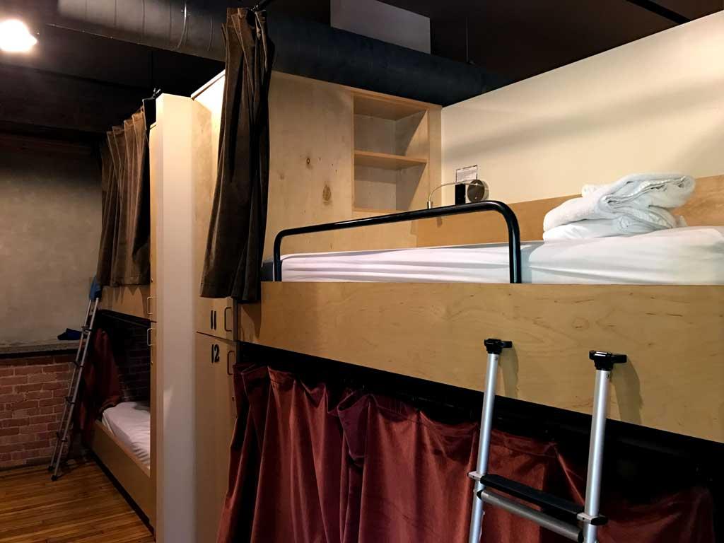 Sweet Peas Hostel Asheville - pod layout
