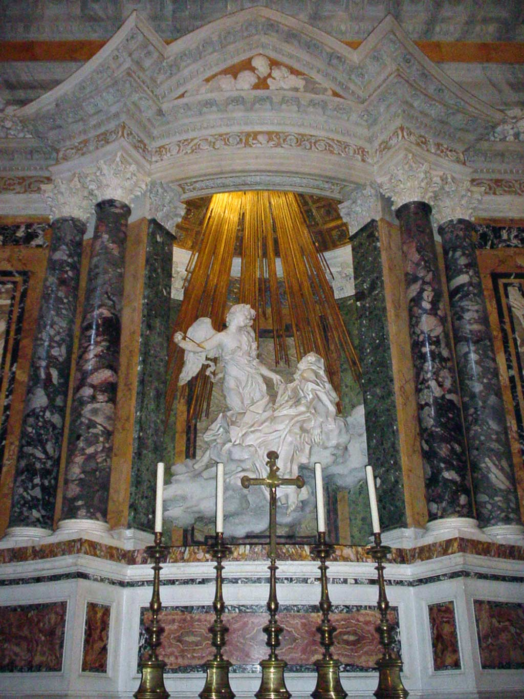 lesser known roman churches - ecstasy of st teresa