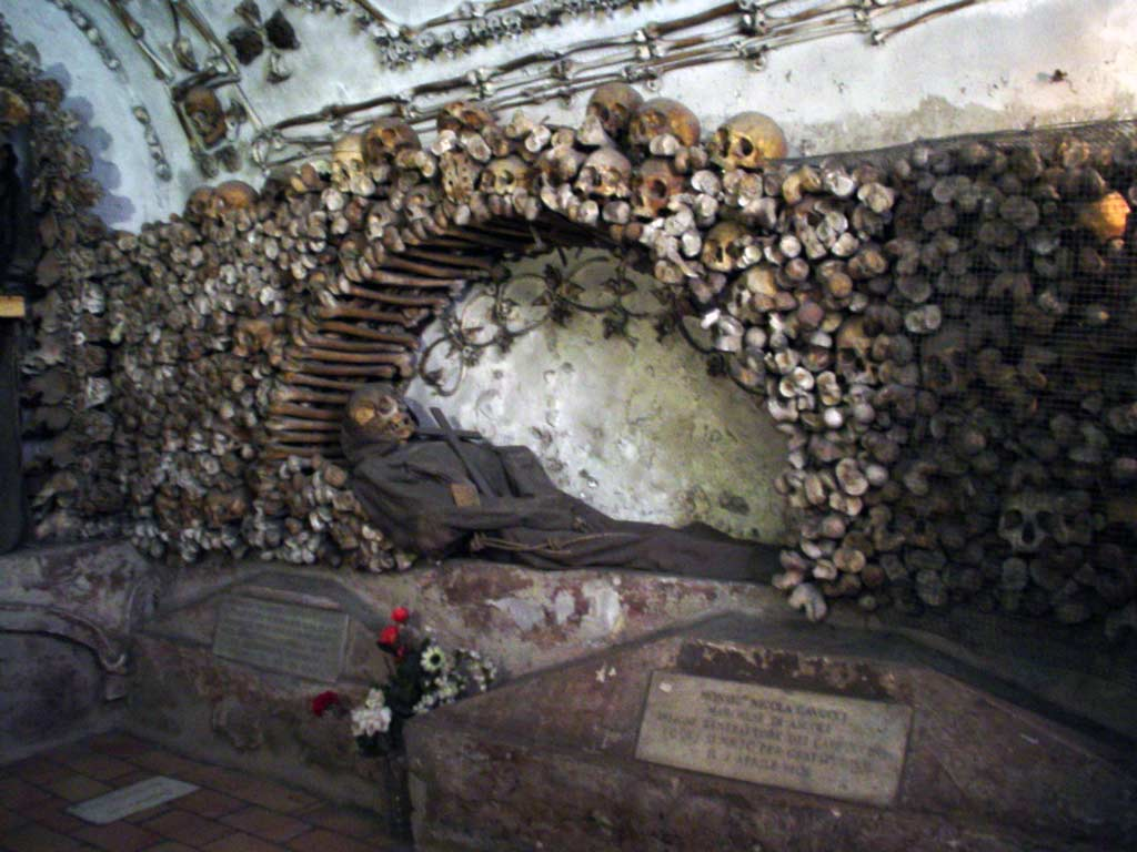 lesser known roman churches - skeletons