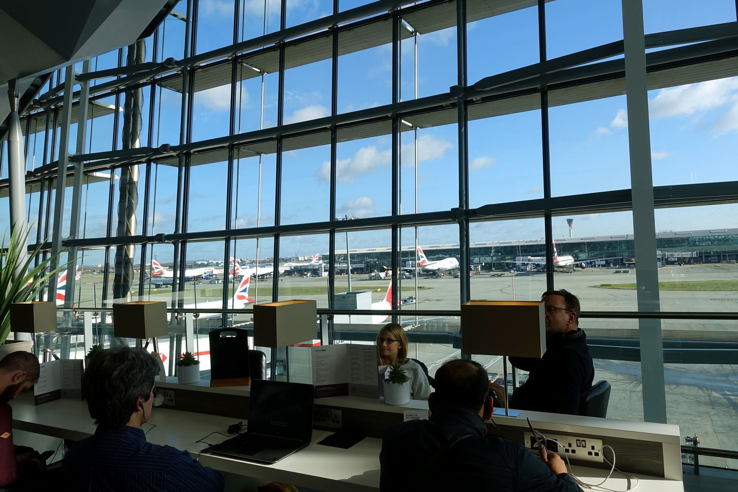 heathrow priority pass lounge - aspire lounge and spa - the view