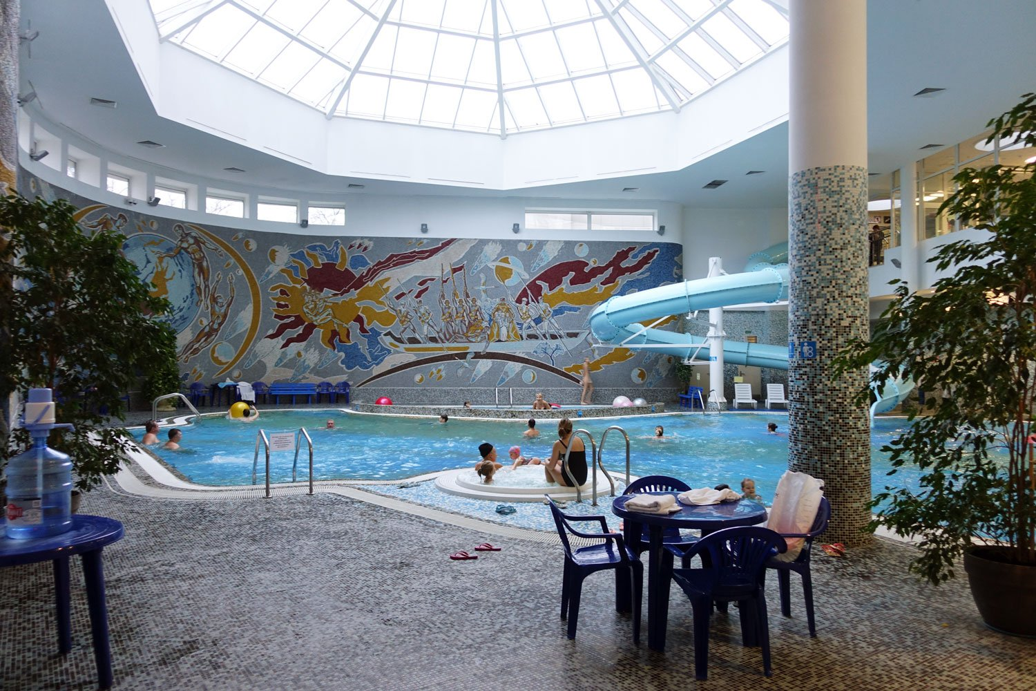 belarus hotel waterpark with pool and water slide