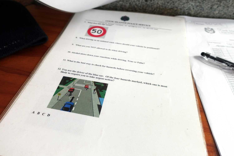 Cook Islands Drivers License written test