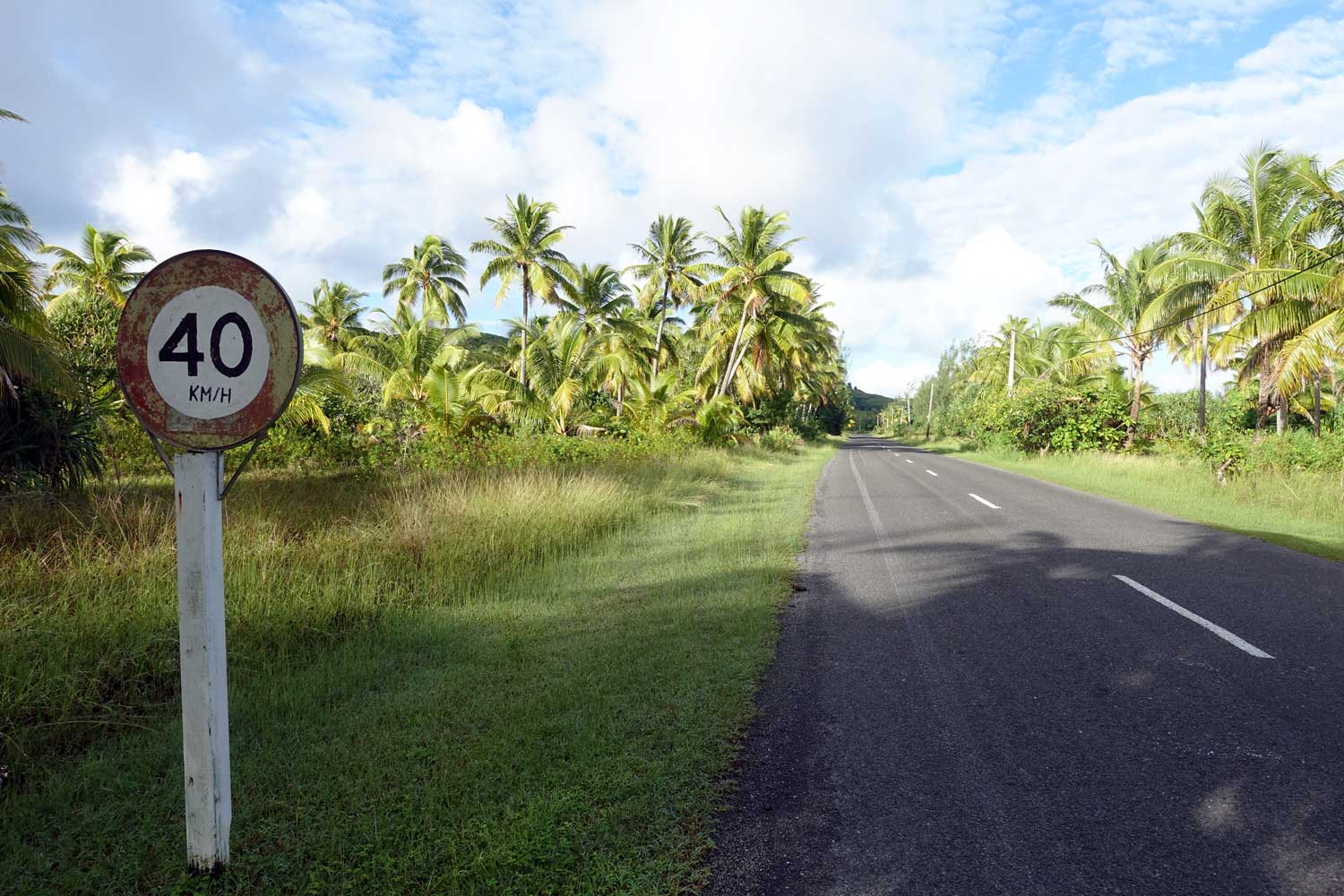 Cook Islands Drivers License speed limit