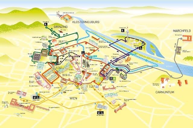 Vienna pass hop on hop off bus map