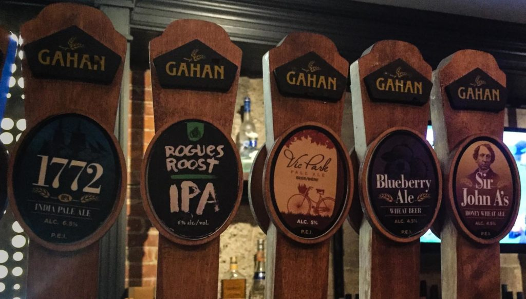 Best craft beer in Fredericton - Gahan House taps