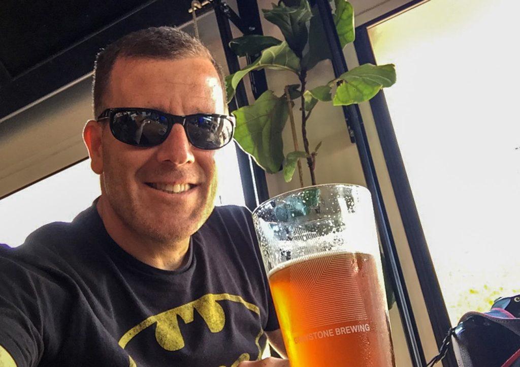 Best craft beer in Fredericton - Graystone brewing selfie