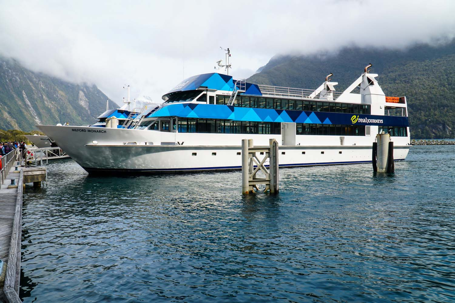 Real Journeys Milford Monarch at dock